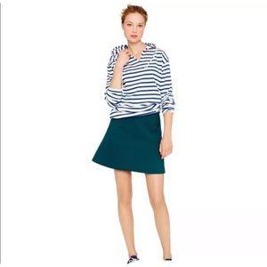 J. Crew Teal Skater Skirt size 2
